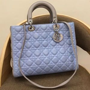 Dior LARGE LADY DIOR LAMBSKIN BAG mixed color